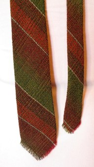 Vintage Early 1960s Woven Wool Men's Necktie