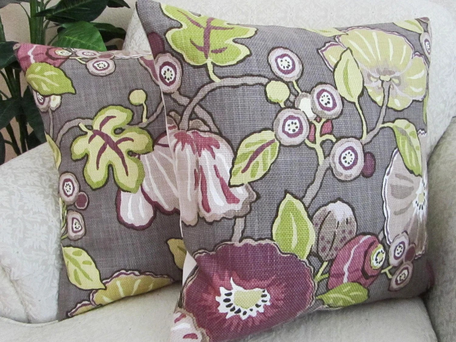 Decorative Throw Pillow Cover Cushion Cover Purple Plum Berry