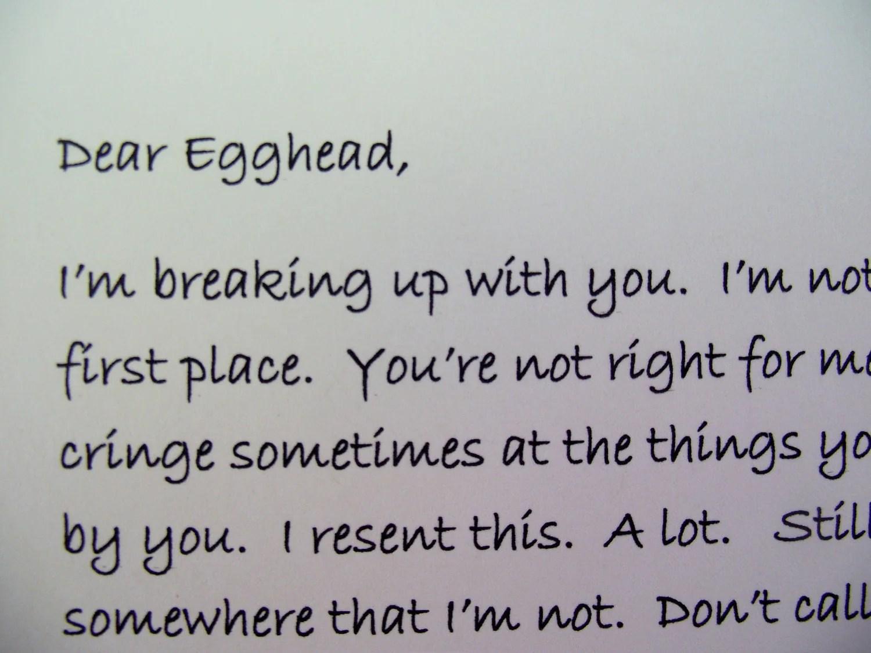 sad love letters