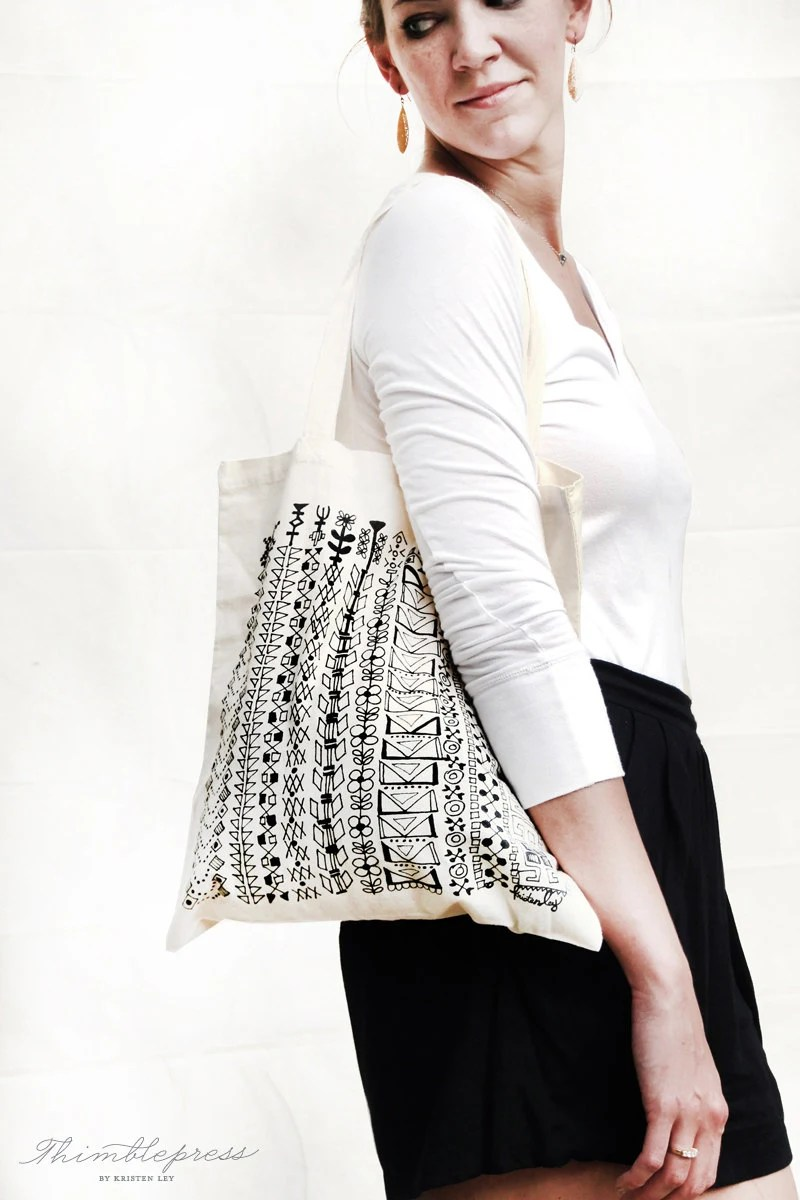 Great Things / Cotton Tote Bag - thimblepress