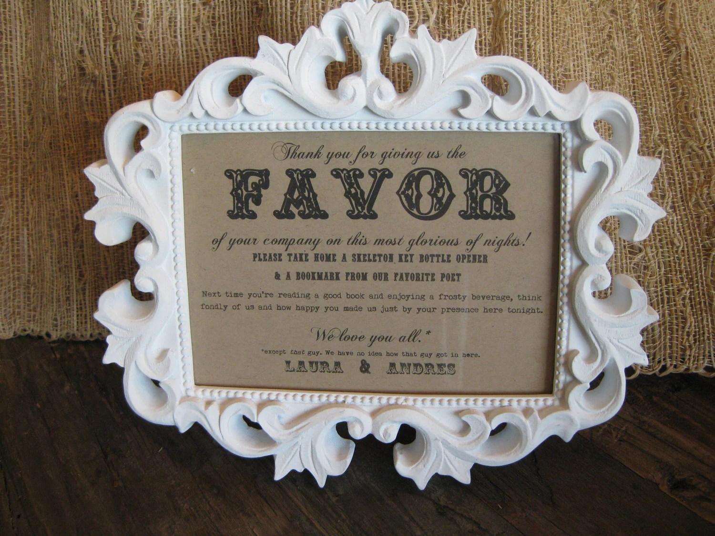 Custom Wedding FAVOR Sign