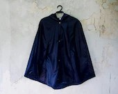 Blue Raincoat Vintage Inspired Waterproof Cape - karmologyclinic