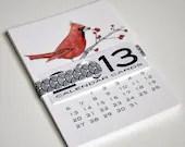 2013 Calendar Cards, black, white, and red. - BriannaReaganArt