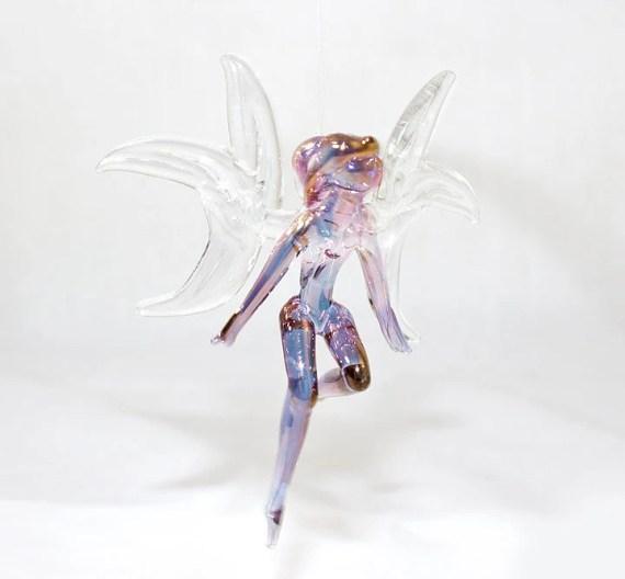 Purple Aura Fairy Lampwork Glass Ornament - Beadtrap