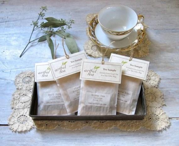 Tea Sampler, 10 Individual Tea Bags, Tea Lovers Gift, Under 15, Custom Gift for Her, Stocking Stuffer, Employee Christmas Party - ArtfulTea