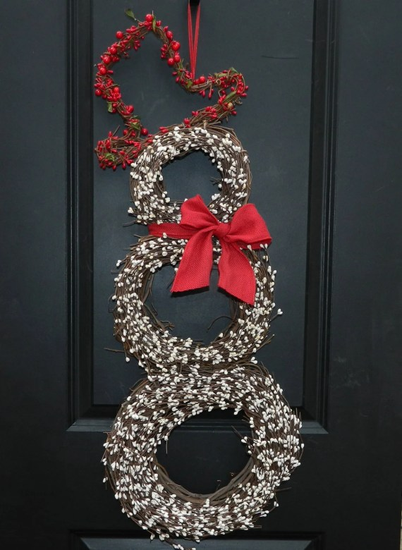 Christmas Wreath - Snowman Wreath - Holiday Wreath - EverBloomingOriginal