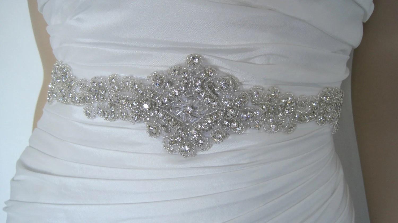 Crystal Wedding Dress Belt Sash Belt Rhinestone Bridal Sash