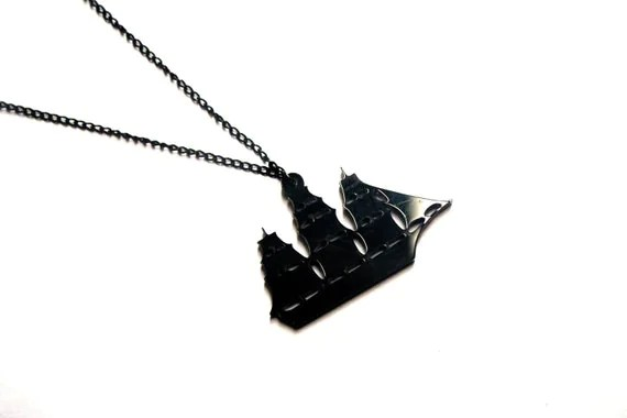 Nautical Pirate Ship Necklace