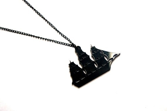Nautical Pirate Ship Necklace