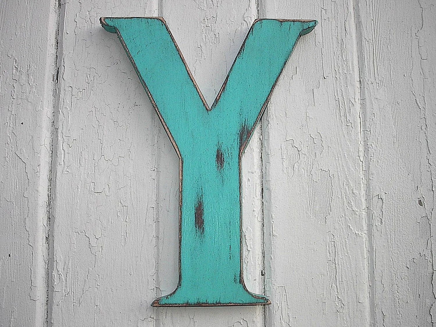 Rustic Wood Letter Bi 12 Inch Letter Y Initial Alphabet