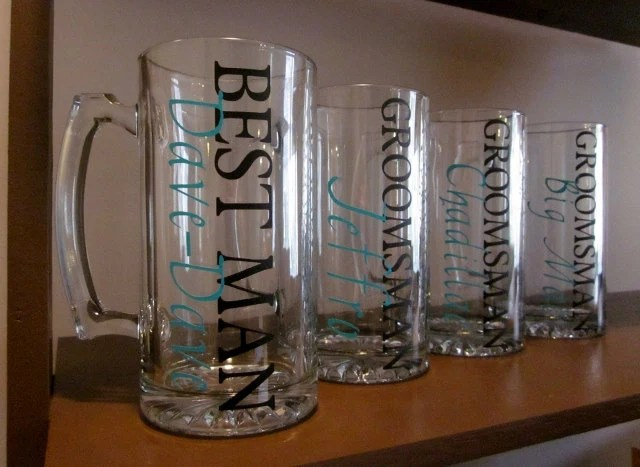 Personalized Beer Mugs - New Font - Perfect for Groomsmen
