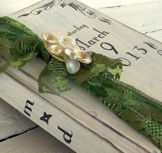 Guest book alternative Custom flowers and Birds shabby vintage  Large