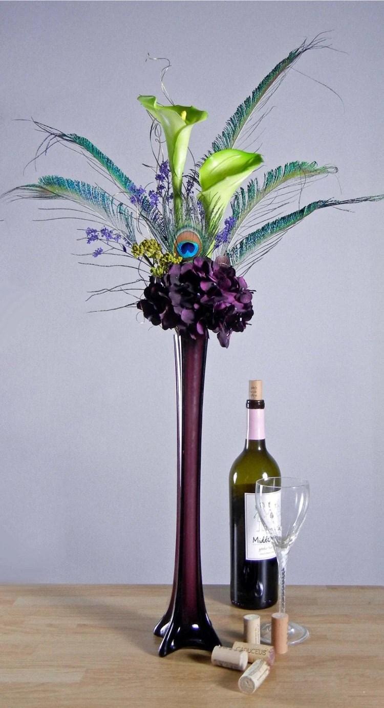 Tall Floral Arrangements Black Vase