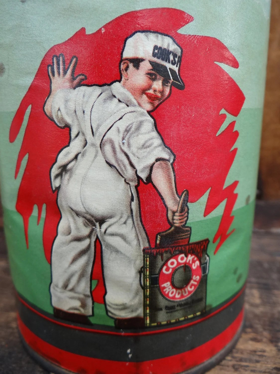 Vintage Cook S Pre Fix Tin Cook Paint And Varnish