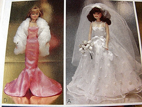 Barbie Doll Clothes Pattern Barbie Formal Gowns, Dresses