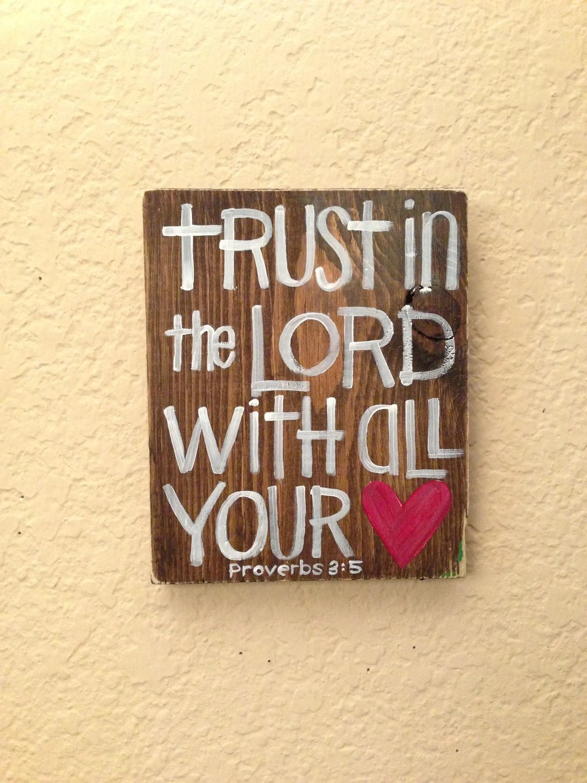 Trust In The Lord Bible Verse Art Scripture Art 5