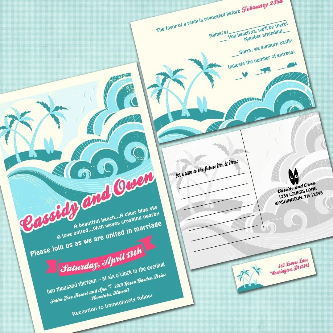 Hawaiian Wedding Invitations
