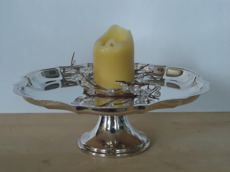 Vintage Silver Pedestal Cake Plate