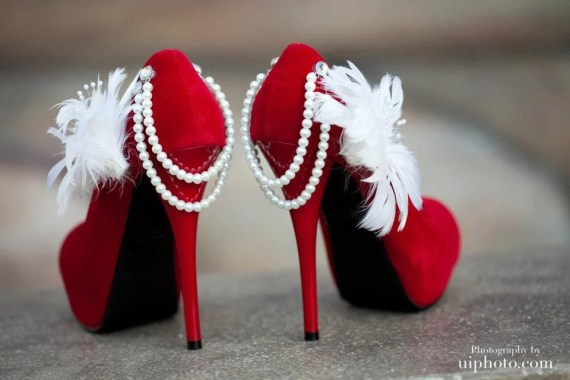 Stunning red wedding pumps - Allfortheglam