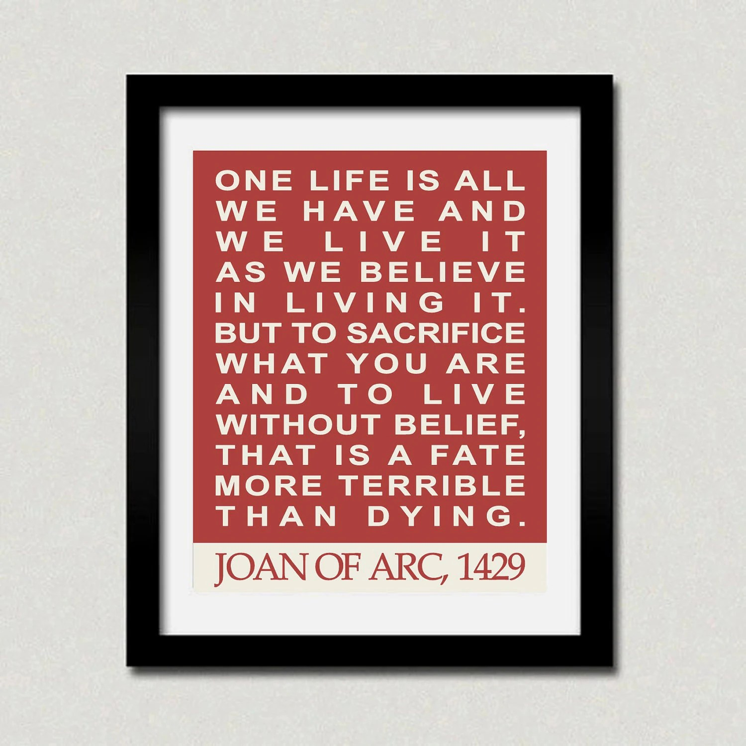 Joan Of Arc Quotes Quotesgram