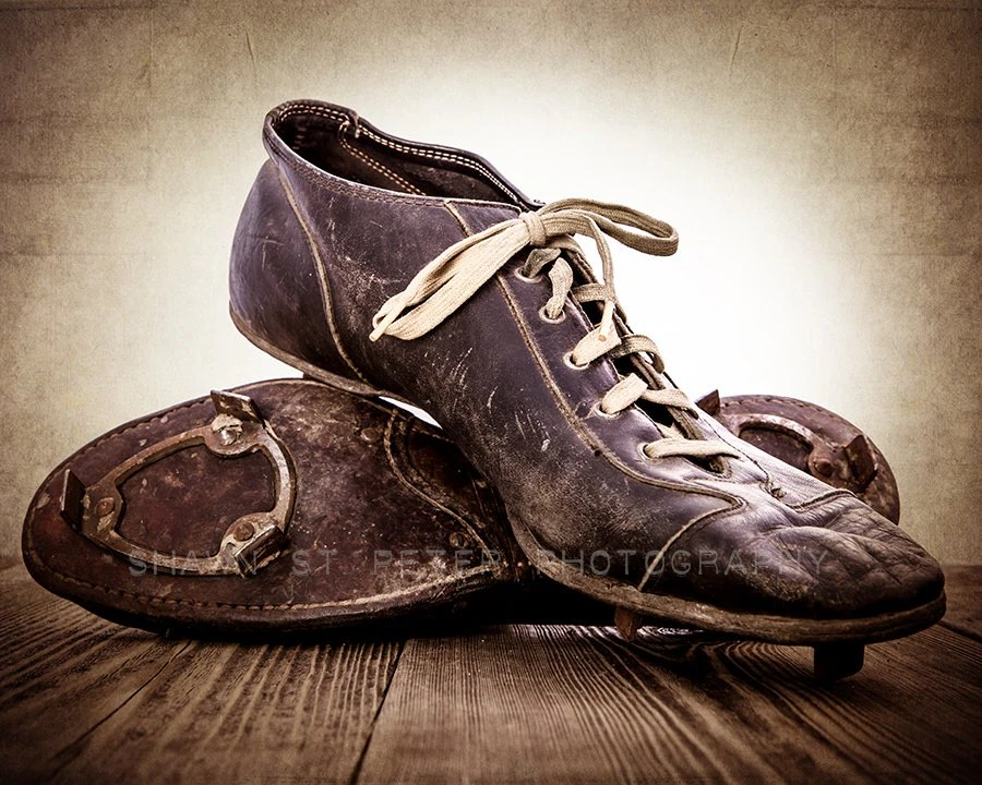 Vintage Wolverine Football Cleats