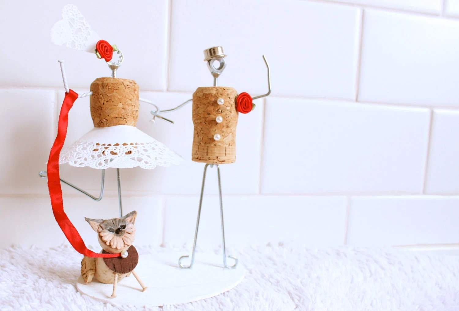 Cake Toppers Wine Cork Wedding