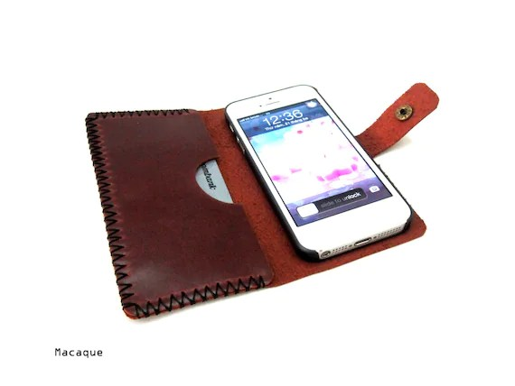 Hand Stitched Leather Iphone case - SM24