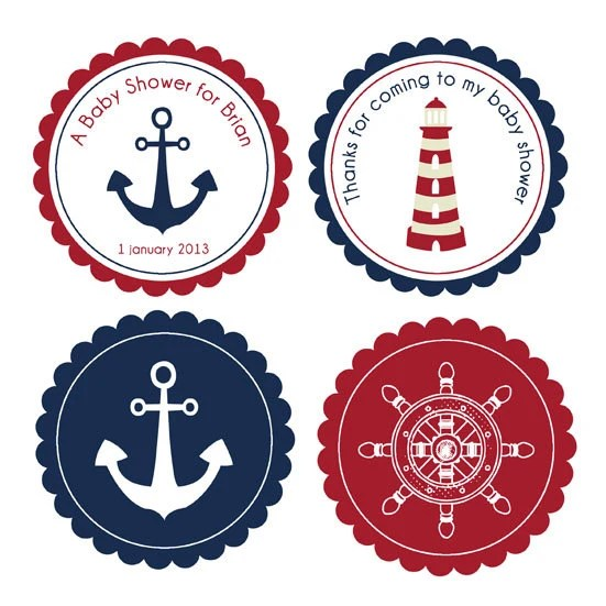 Sailor Baby Shower Clip Art