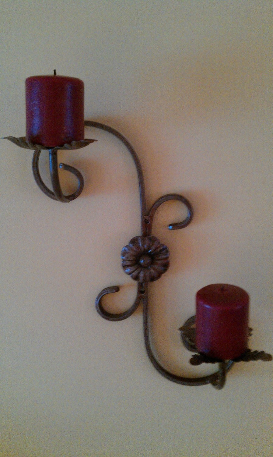 Wrought iron, wall mounted candle holder on Wall Mounted Candle Holder id=23730