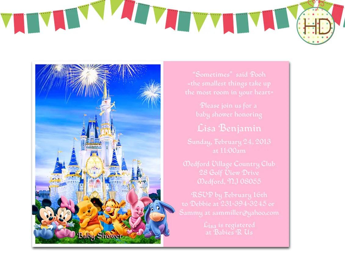 Disney Baby Shower Invitations Printable
