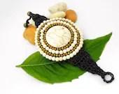 White Synthetic Turquoise Bracelet - AmaritaProject