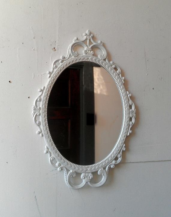 Small White Vanity Mirror