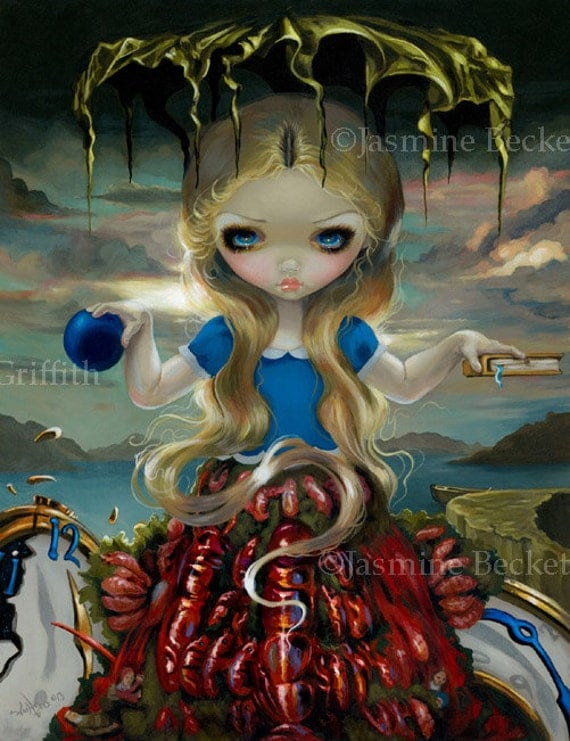 Items Similar To Alice In A Dali Dress Surreal Wonderland
