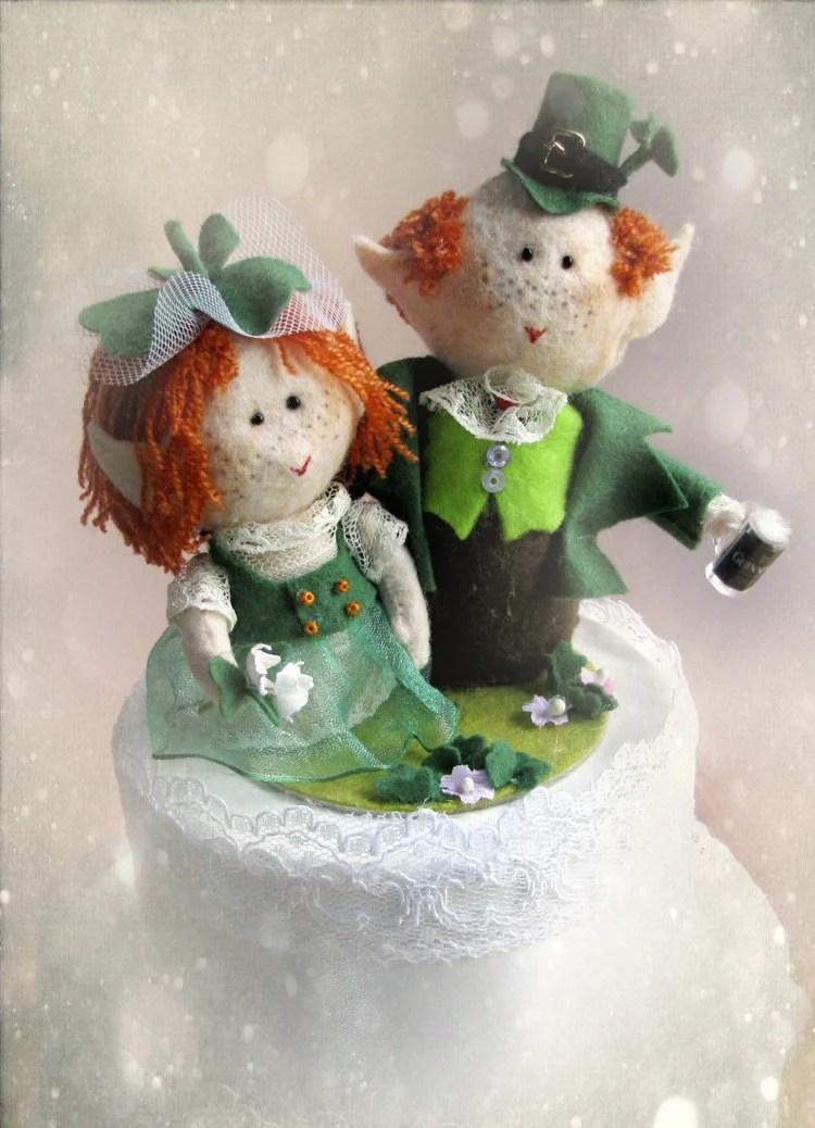 Guinness Leprechaun Wedding Cake Topper Irish Bride Groom