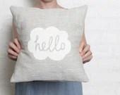 Hello Cushion Cover - White - hellomilky