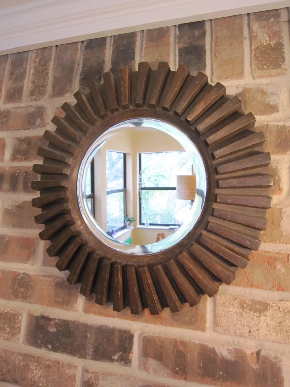 Reclaimed Wood Mirror Round Gear Mirror Sunburst Mirror