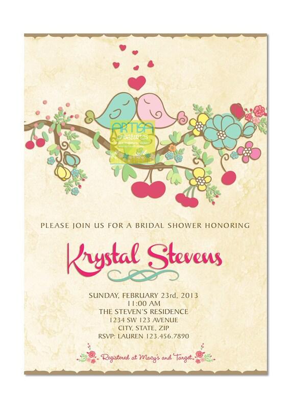 Spring Bridal Shower Invitations