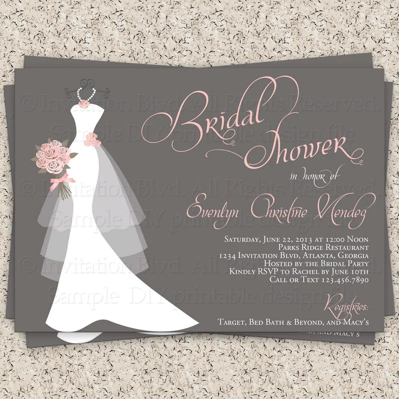 Cool Bridal Shower Invitations