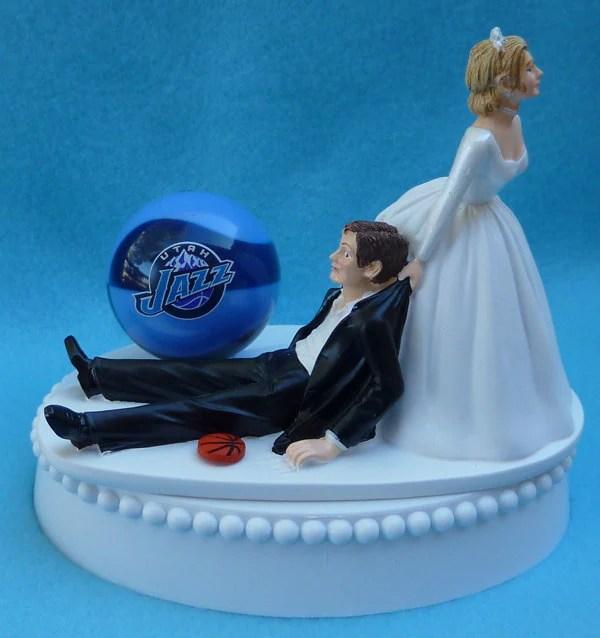 Basketball Wedding Cake Topper