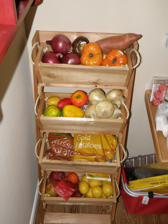 4 Tier Fruit Basket Stand