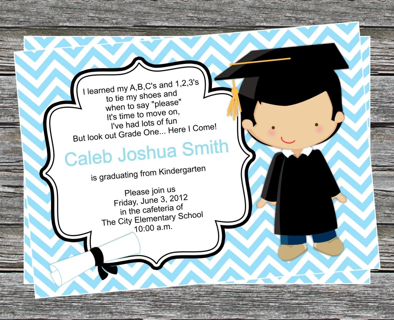 Kindergarten Graduation Invitations Free Printable