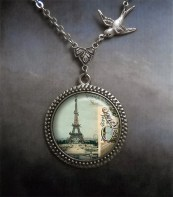 Airmail from Paris vintage style necklace, Paris jewelry, Paris necklace, romantic necklace, travel