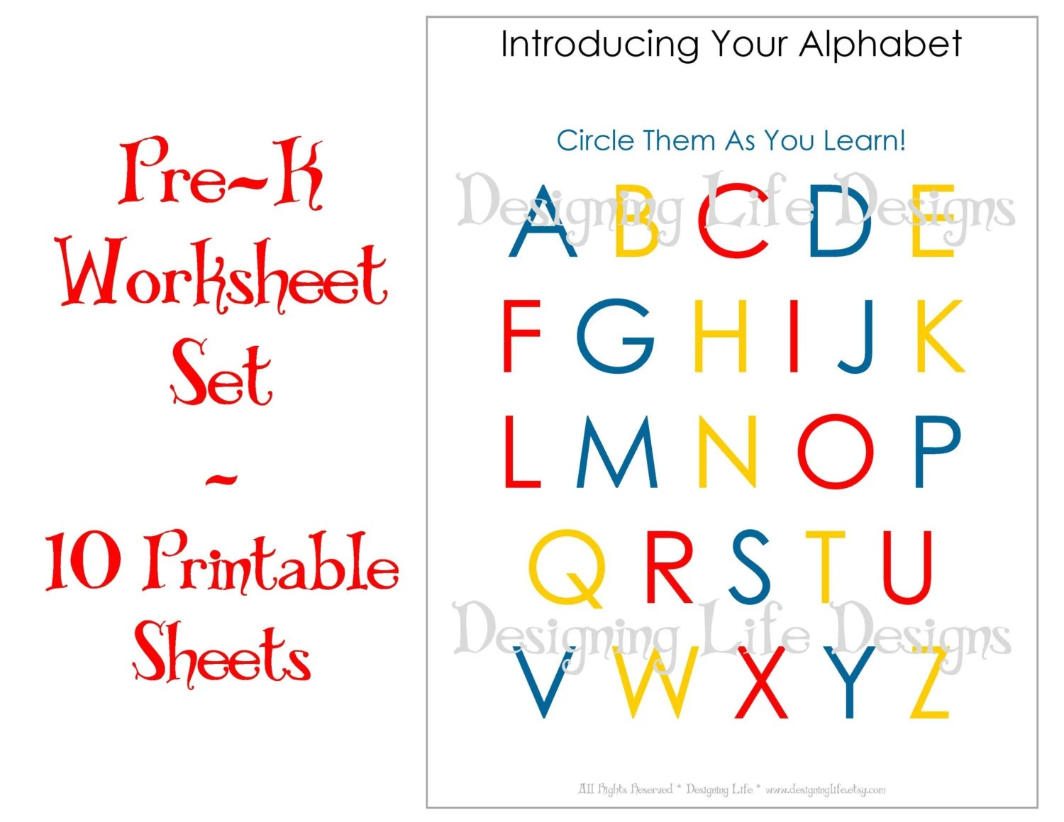 Homeschool Worksheets 10 Printable Pages For Pre K To