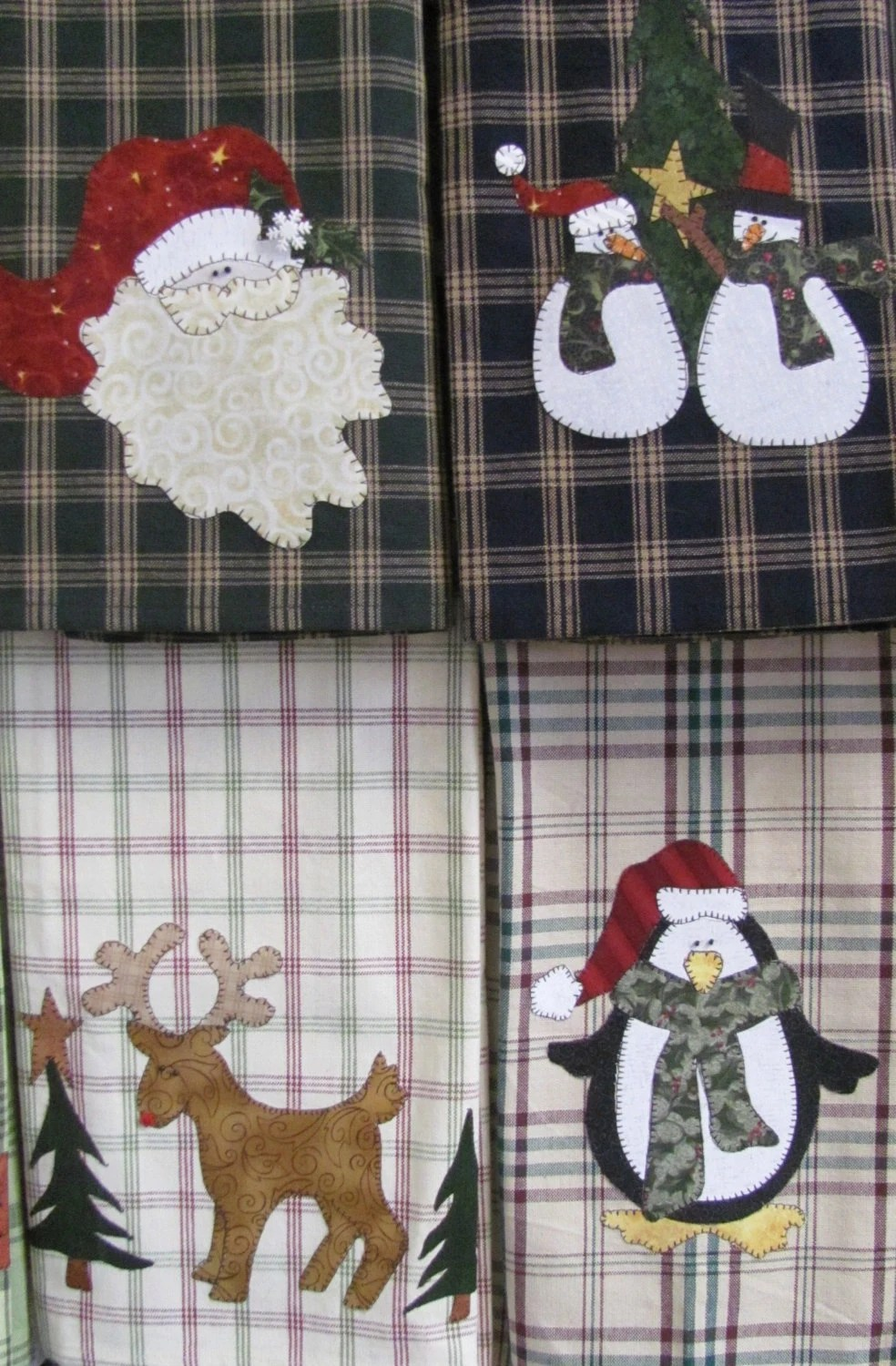 Holiday Tea Towels Applique PDF Pattern By Quiltdoodledesigns