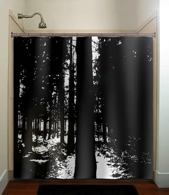 Dark Woods Black Forest Trees Shower Curtain By TablishedWorks