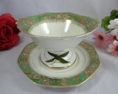 1920s Hand Painted Green ...