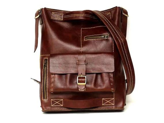 Hand Stitched Leather  Messenger / Back Bag - SM30