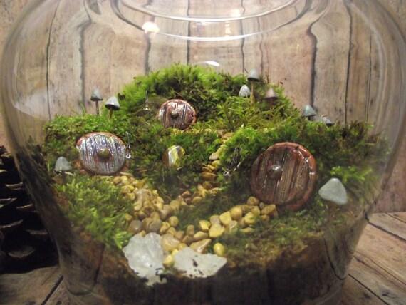 Hobbit Habitat Terrarium Live Moss Terrarium Miniature Hobbit