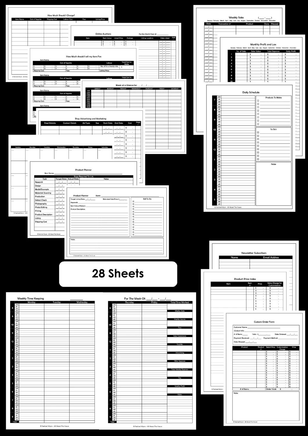 Etsy Business Planner Printables Work At Home Mom Online