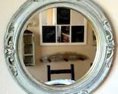 Vintage Round Distressed Mirror - JandEGenuine